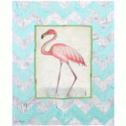 Flamingo in Paradise Canvas Wall Art