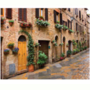 Tuscan Village Canvas Wall Art