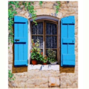 Tuscany Window Canvas Wall Art