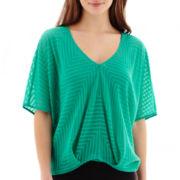 Bisou Bisou® Dolman-Sleeve Print Top