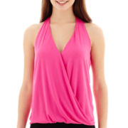 Bisou Bisou® Sleeveless T-Back Crossover Bubble Top