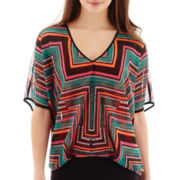 Bisou Bisou® Dolman-Sleeve Print Top