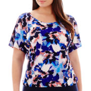 Alyx® Dolman-Sleeve Floral Print Top – Plus
