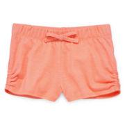 Okie Dokie® Gathered-Side Shorts – Toddler Girls 2t-5t