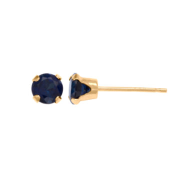 jcpenney.com | 10K Gold Lab-Created Sapphire Stud Earrings