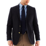 Stafford® Executive Navy Hopsack Blazer - Classic