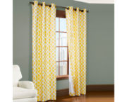 Trellis 2-Pack Thermal Cotton Grommet-Top Curtain Panels