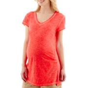 Maternity Tie-Front Blouse - Plus