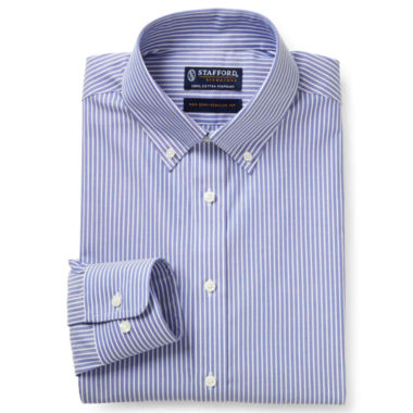 jcpenney.com | Stafford® Executive Non-Iron Cotton Pinpoint Oxford Shirt