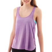 City Streets® Double-Scoopneck Bar-Back Tank Top