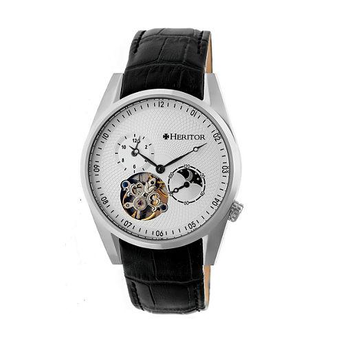 Heritor Alexander Mens Black Strap Watch-Herhr4901