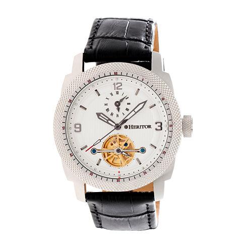 Heritor Helmsley Mens Black Strap Watch-Herhr5005