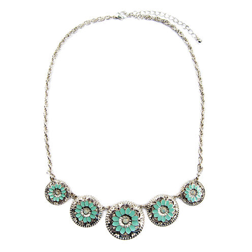 Arizona Freeform White Statement Necklace