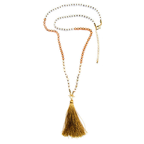 Decree Freeform Womens Strand Necklace