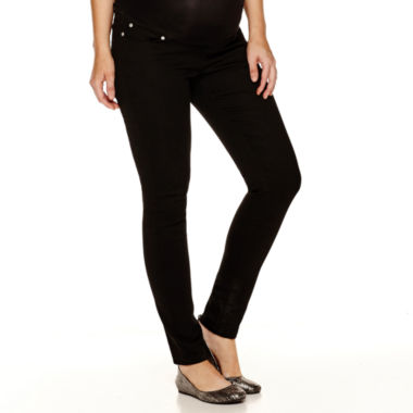 jcpenney.com | Maternity Overbelly Colored Skinny Pants - Plus