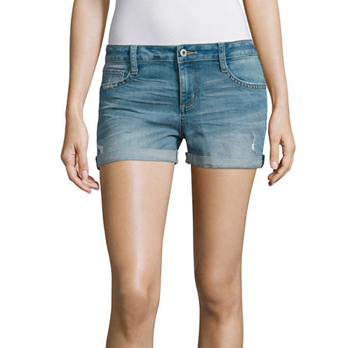 "Arizona 2.5"" Denim Shorts-Juniors"