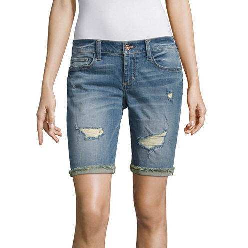 "Arizona 9"" Denim Bermuda Shorts-Juniors"