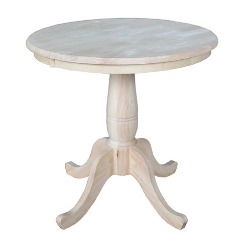 Unfinished Pedestal Round Dining Table