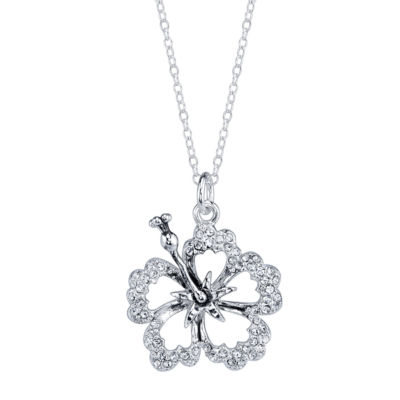 Disney womens clear crystal lilo stitch pendant necklace jcpenney disney womens clear crystal lilo stitch pendant necklace aloadofball Gallery