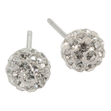 jcpenney.com | Sterling Silver Crystal Ball Stud Earrings