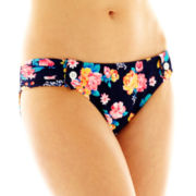 Arizona Floral Print Side-Scrunch Hipster Swim Bottoms