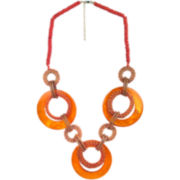 Designs by Adina Orange Shell Necklace