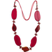 Designs by Adina Red Resin & Glass Necklace