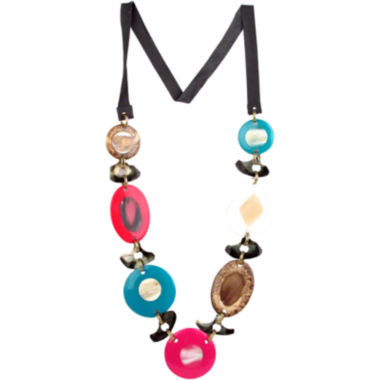 jcpenney.com | Designs by Adina Multicolor Disc & Shell Necklace