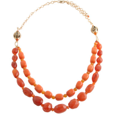 jcpenney.com | Art Smith by BARSE Red & Orange Gemstone Double-Strand Necklace