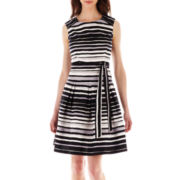 Robbie Bee® Sleeveless Striped Dress