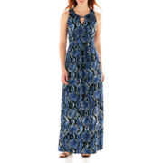 DR Collection Sleeveless Print Maxi Dress