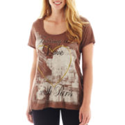 LA Conduct Short-Sleeve Embellished Graphic Tee - Plus