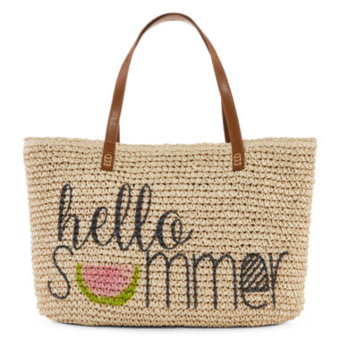 jcpenney.com | Straw Studios Graphic Straw Tote