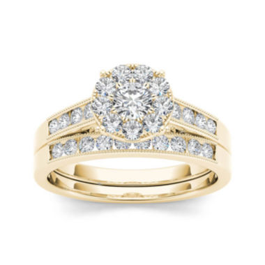 jcpenney.com | 3/4 CT. T.W. Diamond 10K Yellow Gold Bridal Set