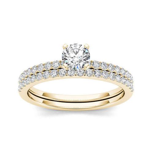 3/4 CT. T.W. Diamond 14K Yellow Gold Bridal Ring Set