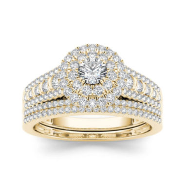 jcpenney.com | 1 CT. T.W. Diamond 10K Yellow Gold Bridal Set