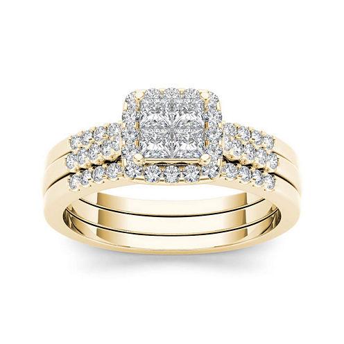 3/4 CT. T.W. Diamond 14K Yellow Gold Bridal Set