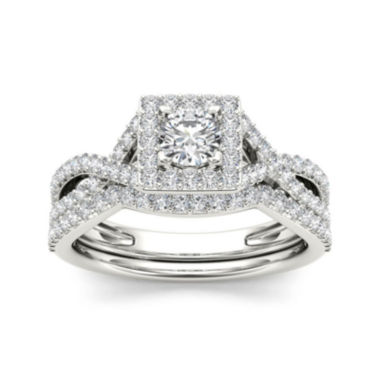 jcpenney.com | 1 CT. T.W. Diamond 14K White Gold Bridal Set
