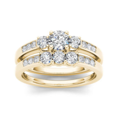 jcpenney.com | 1 CT. T.W. Diamond 14K Yellow Gold Bridal Ring Set