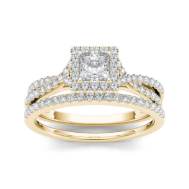 jcpenney.com | 1 CT. T.W. Diamond 10K Yellow Gold Bridal Ring Set