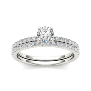 jcpenney.com | 3/4 CT. T.W. Diamond 14K White Gold Bridal Ring Set