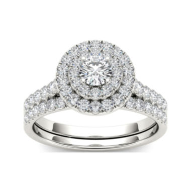 jcpenney.com | 1 CT. T.W. Diamond 10K White Gold Bridal Set Ring