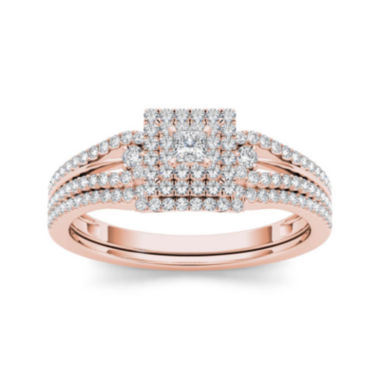 jcpenney.com | 1/2 CT. T.W. Diamond 10K Rose Gold Bridal Set