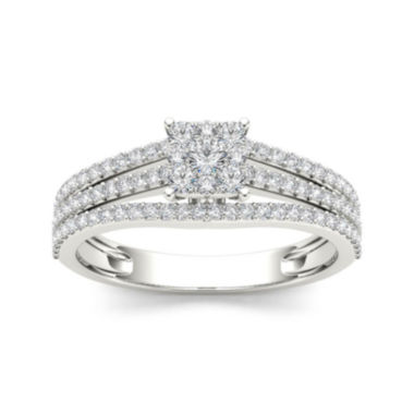 jcpenney.com | 1/2 CT.T.W. Diamond 10K White Gold Engagement Ring
