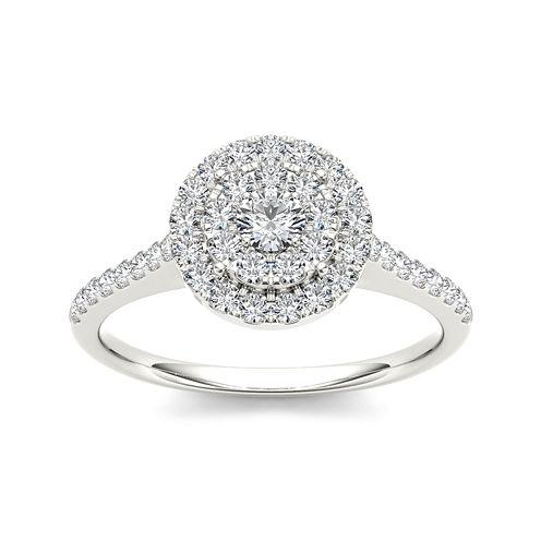 3/4 CT. T.W. Diamond 10K White Gold Engagement Ring
