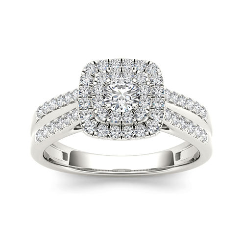 3/4 CT. T.W. Diamond 10K White Gold Engagement Ring