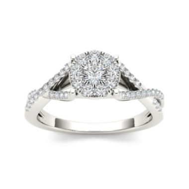 jcpenney.com | 3/4 CT. T.W. Diamond 10K White Gold Engagement Ring