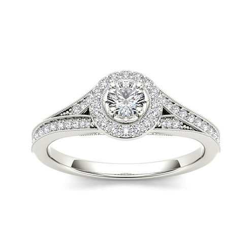 5/8 CT. T.W. Diamond 14K White Gold Engagement Ring