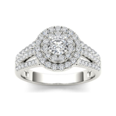 jcpenney.com | 1 CT. T.W. Diamond Halo 10K White Gold Engagement Ring