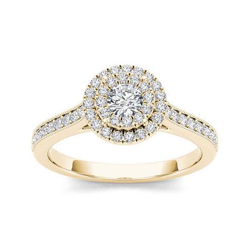 1/2 CT. T.W. Diamond 10K Yellow Gold Engagement Ring